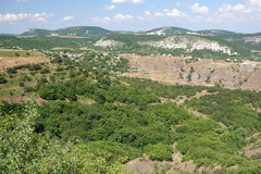 Panorama of Crimean mountains. Panorama of the Second Ridge of Crimean mountains, South-western Crimea, Ukraine Stock Images