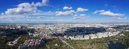 panorama Croatia capitol city Zagrzeb zdjęcia royalty free