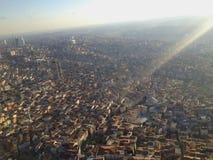panorama Croatia capitol city Zagrzeb Zdjęcie Royalty Free