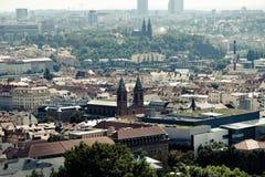 panorama Croatia capitol city Zagrzeb Fotografia Royalty Free