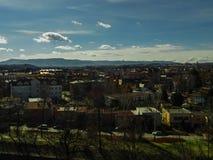 panorama Croatia capitol city Zagrzeb Obraz Royalty Free