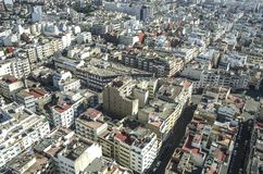 panorama Croatia capitol city Zagrzeb casablanca Morocco africa Fotografia Stock