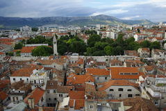 Panorama in Croatia. View from above Stock Images