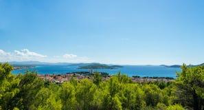 Panorama of croatian coastline Stock Images