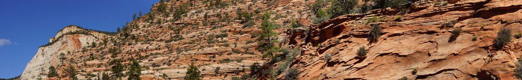 Panorama, cross current layers of red sandstone Stock Photography