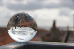 Panorama in a crystal ball. Splendid panorama reflect in a crystal ball Stock Images