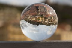 Panorama in a crystal ball. Splendid panorama reflect in a crystal ball Royalty Free Stock Photo