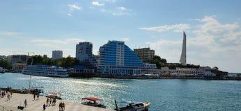 Panorama of Crystal cape, Sevastopol Stock Photo