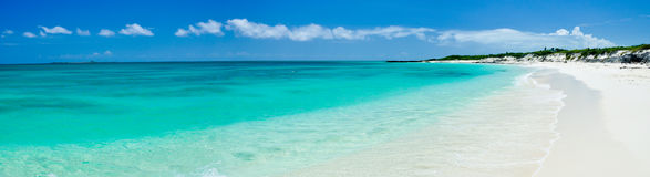 Panorama cubain tropical de plage Photo stock