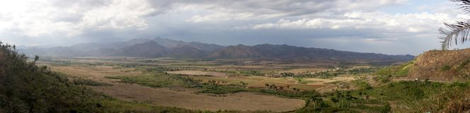 Panorama Cubana. Cuba, panorama of valley near Trinidad city. 2006 Royalty Free Stock Photography