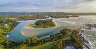 Panorama cubierto de musgo de Australia del punto Imagenes de archivo