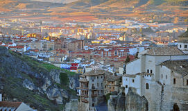 Panorama of Cuenca old town Royalty Free Stock Photos