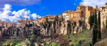 Panorama of Cuenca, Spain Stock Images