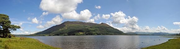 Panorama of a cumbrian lake Stock Photo