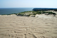 Panorama of the Curonian spit Royalty Free Stock Photography