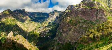 Panorama of Curral das Freiras Stock Images