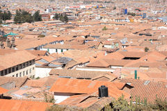 Panorama of Cusco city Stock Photo