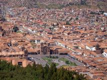 Panorama of Cusco, the city in southeastern Peru, South America Royalty Free Stock Photography