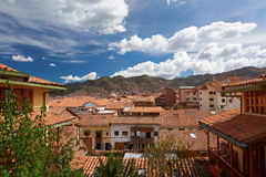 Panorama of cusco city Stock Image