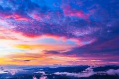 Panorama Czarna Denna linia brzegowa od Akhun góry, Duży Soc obraz royalty free