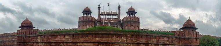 Panorama Czerwony fort, Delhi Zdjęcia Royalty Free