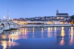 Panorama-Dämmerungs-Mitte Frankreich Blois Loire Valley Lizenzfreie Stockbilder