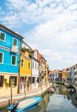 Panorama d'île de Burano Photographie stock libre de droits