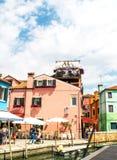 Panorama d'île de Burano Photographie stock