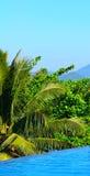 Panorama d'île de paradis Photos stock