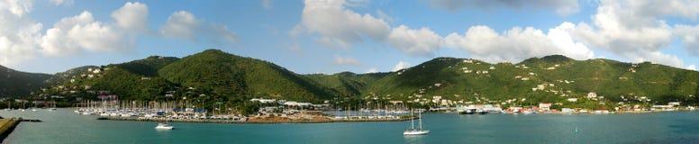 Panorama d'île de Tortola Photos libres de droits
