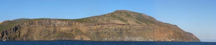 Panorama d'île de Vulcano - Messine - Sicile - Italie Photographie stock