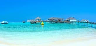 Panorama d'île des Maldives Images stock