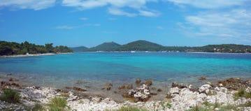 Panorama d'île Losinj Image stock