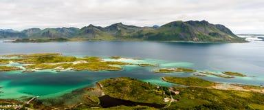 Panorama d'îles de Lofoten Images stock