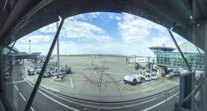 Panorama d'aéroport de Marseille Photo libre de droits