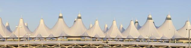 Panorama d'aéroport international de Denver Image libre de droits