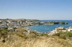 Panorama d'Agia Pelagia Photo stock