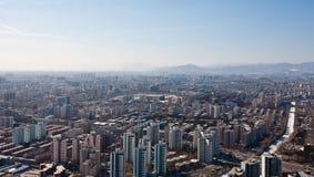 Panorama d'Airview de Pékin, Chine photos stock