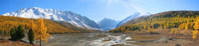 Panorama d'Aktru Images libres de droits