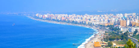 Panorama d'Alanya d'été Images libres de droits