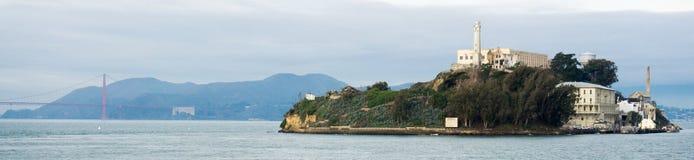 Panorama d'Alcatraz Photographie stock