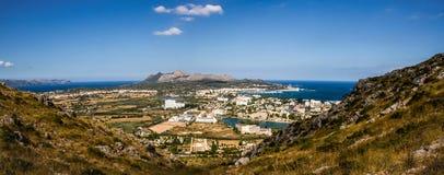 Panorama d'Alcudia Photos libres de droits