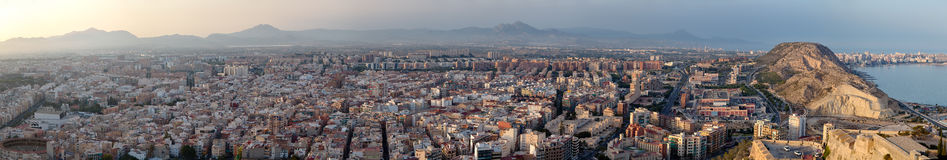 Panorama d'Alicante Images stock