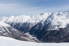 Panorama d'Alpes à Solden, Autriche Photos libres de droits