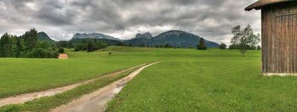 Panorama d'Alpes    image stock