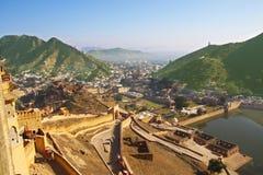 Panorama d'Amer d'Amber Fort Image libre de droits