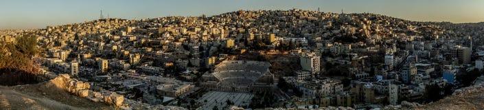 Panorama d'Amman Photos stock