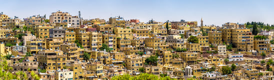 Panorama d'Amman, Jordanie Images libres de droits