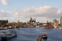 Panorama d'Amsterdam aux Pays-Bas image libre de droits
