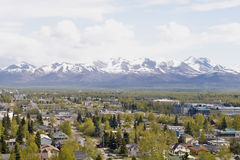 Panorama d'Anchorage Photographie stock
